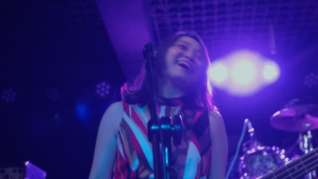 japanese rock band prepare on stage. - rock musician stock videos & royalty-free footage