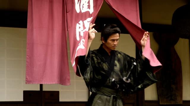 japanese ronin warrior - reenactment stock videos & royalty-free footage