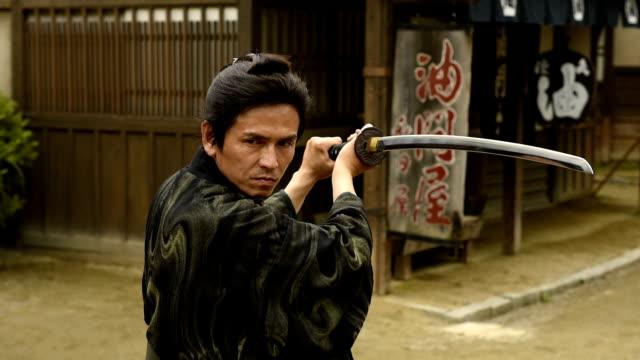 vídeos y material grabado en eventos de stock de japonés ronin guerrero - escenario cinematográfico