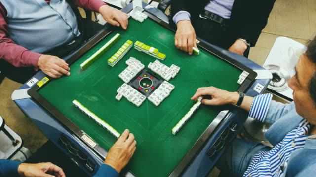 Japanese Seniors Playing Mahjong