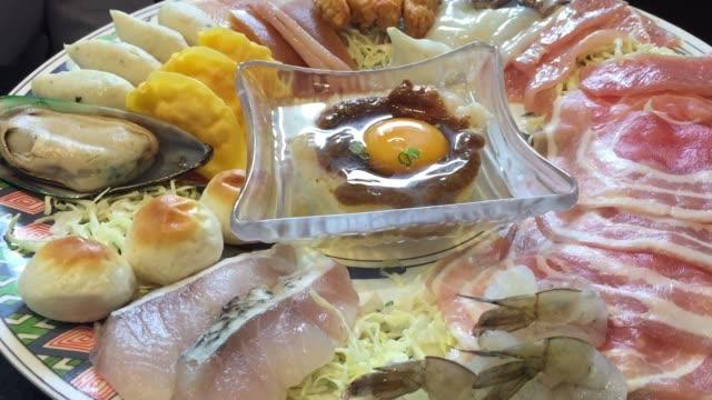 japanese shabu shabu and sukiyaki - sukiyaki stock videos and b-roll footage