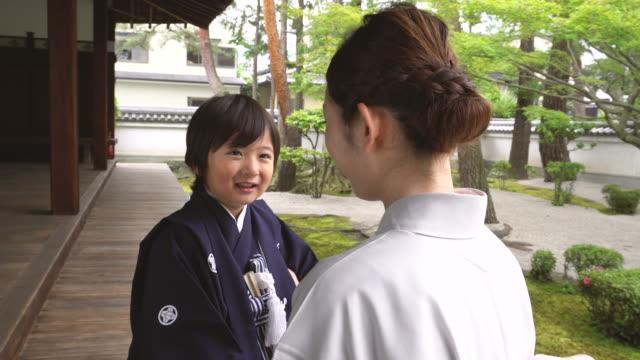 日本 七五三 セレモニー - 小学校低学年点の映像素材/bロール