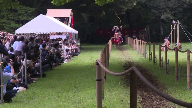 a japanese shinto shrine in central tokyo meiji jingu celebrates the first day of reiwa era by handing out free sake to visitors and holding a... - shinto stock videos & royalty-free footage