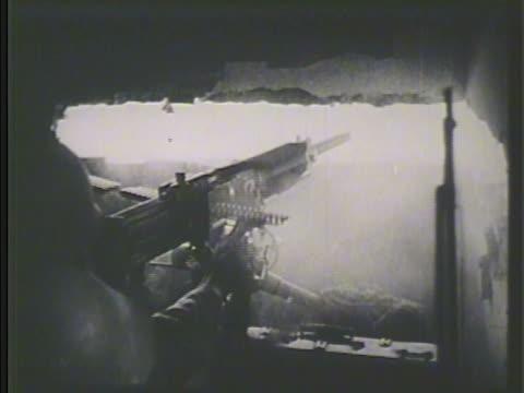 japanese soldiers firing machine guns artillery regiment on field firing cannons machine gun firing from inside bunker vs japanese tanks including... - regiment stock videos and b-roll footage