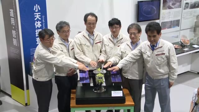 japanese space explorer hayabusa2 on wednesday reached its destination near a small asteroid named ryugu about 300 million kilometers from earth... - wanderfalke stock-videos und b-roll-filmmaterial