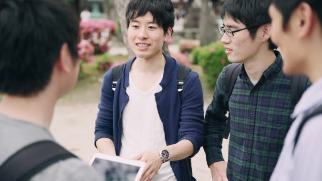 ms japanese students using digital tablet - only japanese stock videos & royalty-free footage