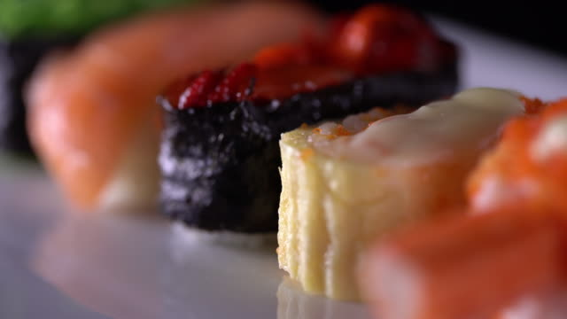 japanese sushi - wasabi sauce stock videos and b-roll footage