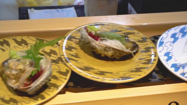 japanese sushi - shrimp seafood stock videos & royalty-free footage