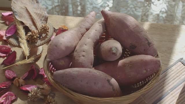 日本のサツマイモ - サツマイモ点の映像素材/bロール