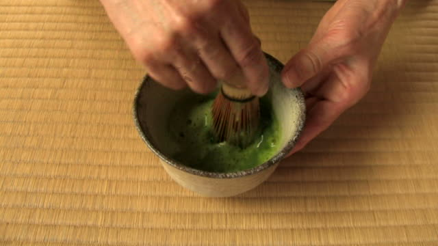 vídeos y material grabado en eventos de stock de cu japanese tea ceremony - sado
