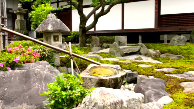 japanese temple garden in kyoto - temple building stock videos & royalty-free footage