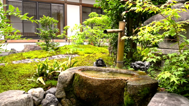 Japanese temple garden in Kyoto