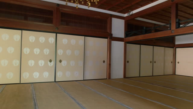 japanese temple. kyoto, japan - tatami mat stock videos and b-roll footage