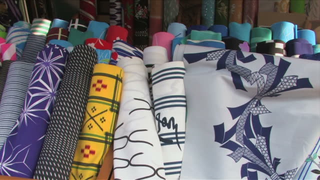 japanese traditional shop - rolled up stock videos & royalty-free footage