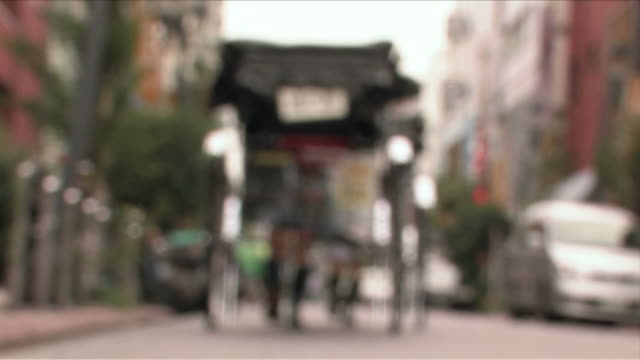 japanese traditional street - risciò video stock e b–roll