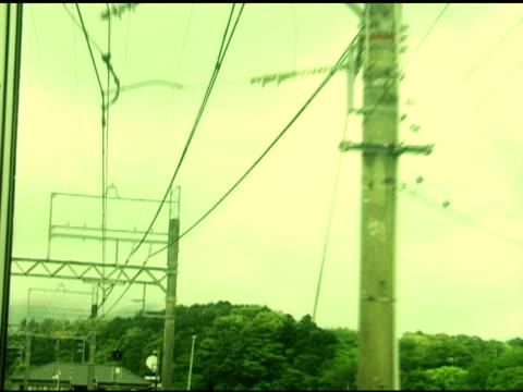 vídeos de stock, filmes e b-roll de japanese trem de mountain village - armação de janela