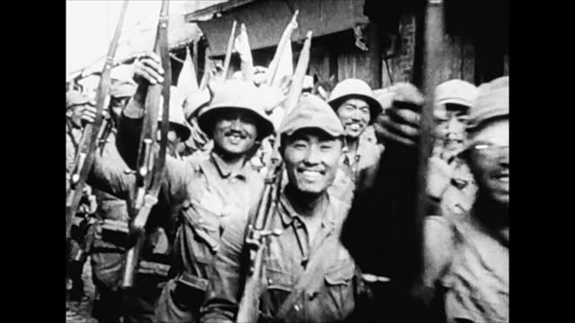 japanese troops moving through northeast china - manchuria region stock videos & royalty-free footage