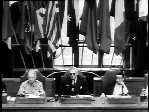 japanese war crimes trials / japan - anno 1947 video stock e b–roll