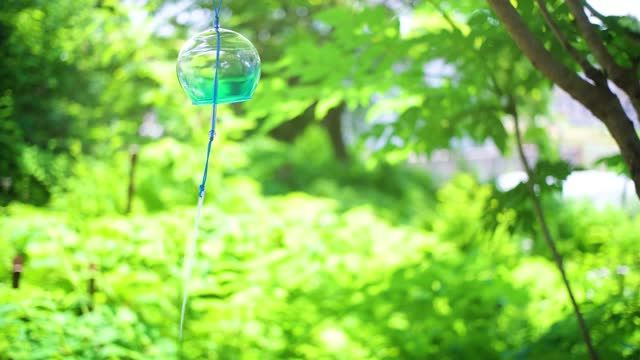 japanese wind chimes - soft focus stock videos & royalty-free footage
