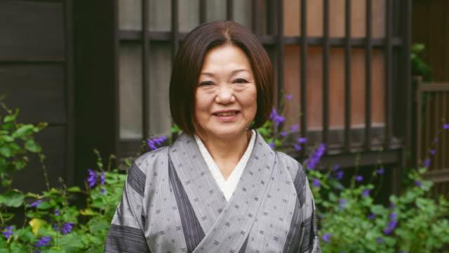 日本の女性の着物 - 中年点の映像素材/bロール