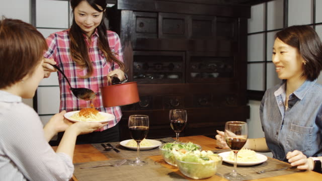 Japanese Women at Dinner Party