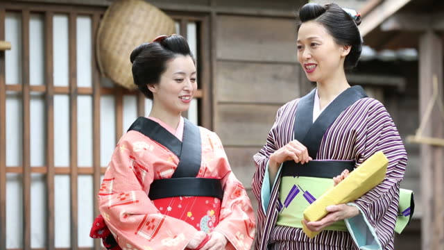 japanese women in traditional kimono - mpeg video format stock videos & royalty-free footage