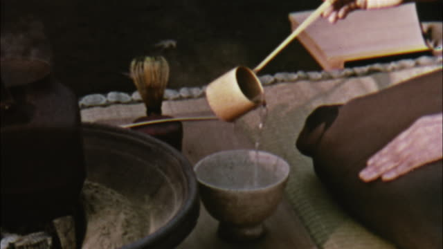 japanese women perform the traditional tea ceremony in a garden. - ceremony stock videos & royalty-free footage