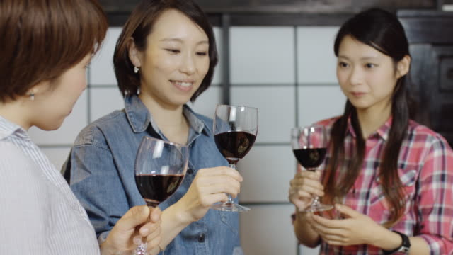 Japanese Women Tasting Wine