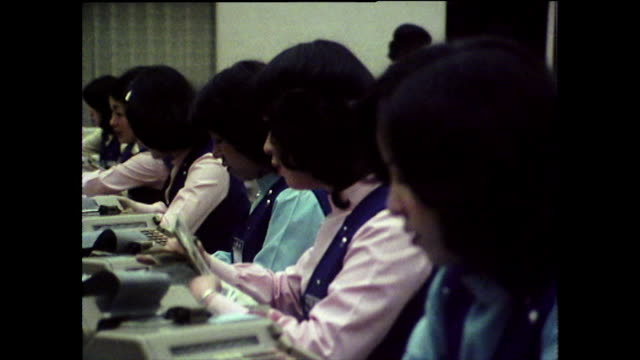 japanese women working in office environment; 1975 - only japanese stock videos & royalty-free footage