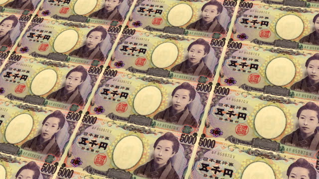 stockvideo's en b-roll-footage met japanse yen bankbiljetten - financieel item