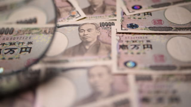 japanese yen in kawasaki japan on saturday july 7 2018 - financial accessory stock videos & royalty-free footage