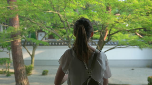 Japanese young female at Japanese temple.