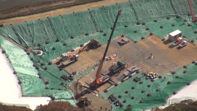 stockvideo's en b-roll-footage met fukushima japannov 17 kyodo japan began friday the disposal of lowlevel radioactive waste generated by the 2011 fukushima nuclear disaster more than... - afvalverwerking
