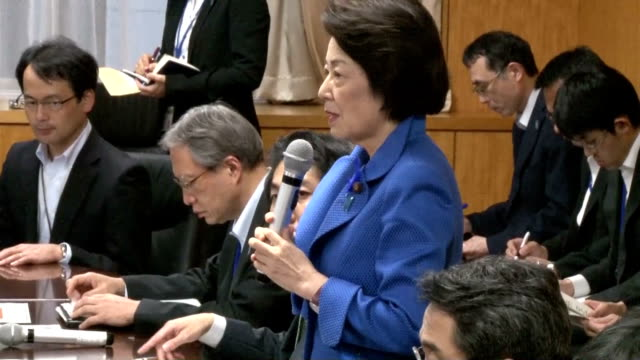 japan's cabinet minister in charge of north korea's abduction of japanese citizens pledged to the families of the victims to strengthen commitment on... - prime minister stock-videos und b-roll-filmmaterial