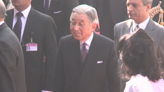 japans emperor akihito and empress michiko meet prime minister manmohan singh and other top officials in new delhi during their week long visit to... - japanese royalty stock videos and b-roll footage