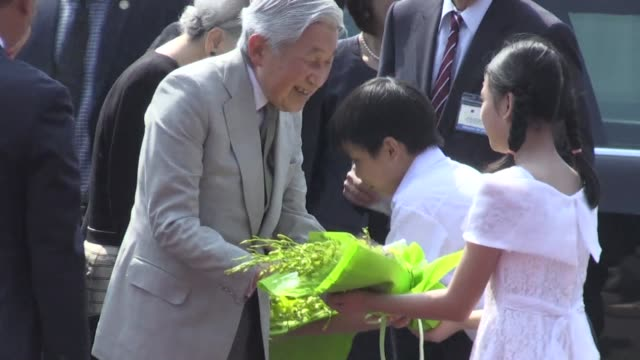 japan's emperor akihito and empress michiko visit the former imperial citadel of vietnam in hue the second stop in their first visit to the southeast... - emperor of japan stock videos and b-roll footage