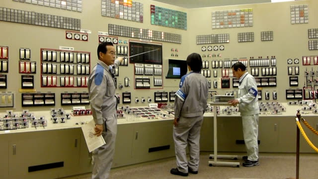 japan's fukuoka-based utility major kyushu electronic co. is in the process of reopening its sendai no.1 nuclear power plant in southern kagoshima... - nuclear reactor stock videos & royalty-free footage