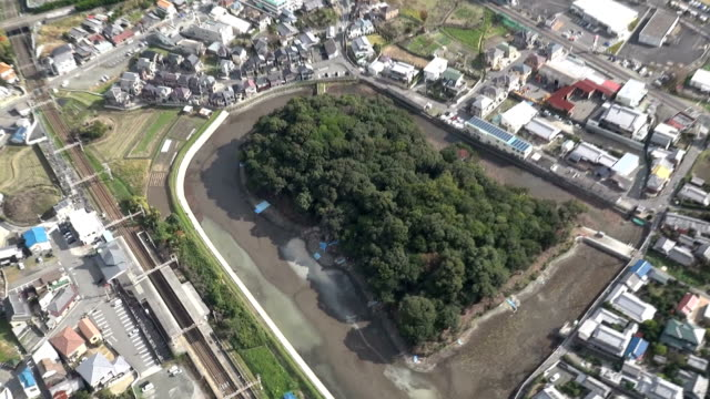 japan's imperial household agency on friday december 5 showed to the press an ancient site the agency designates as the tomb of an ancient imperial... - religiöse stätte stock-videos und b-roll-filmmaterial