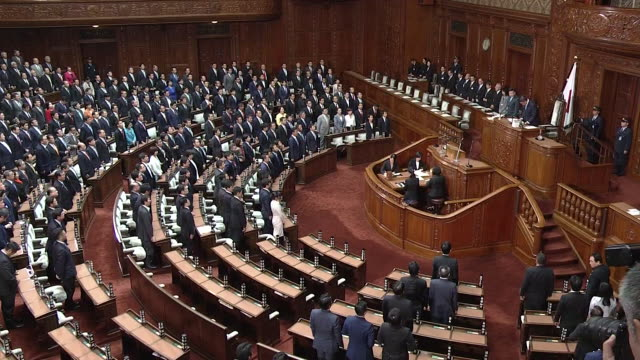 Japan's Lower House of the Diet has been dissolved on the day the Diet is convened for a snap election The plenary session taking place GV Cabinet...