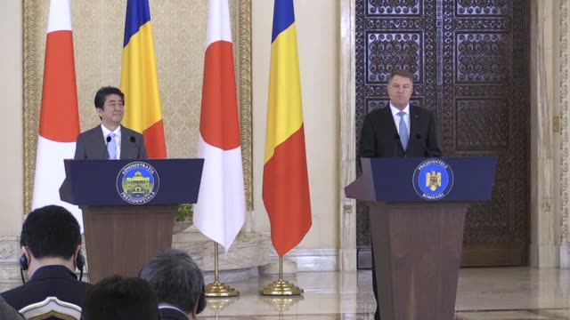 Japan's Prime Minister Shinzo Abe is in Romania on the final stop of a European tour hailed as a historic moment by Romanian President Iohannis