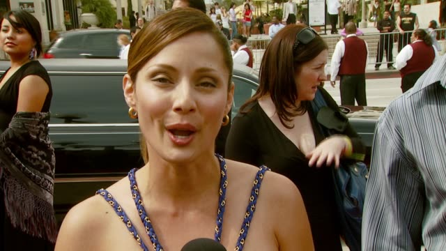 jaqueline pinol on the alma awards being a latina woman in the industry and working on the nbc family show 'lincoln heights' at the alma awards at... - alma awards stock videos and b-roll footage