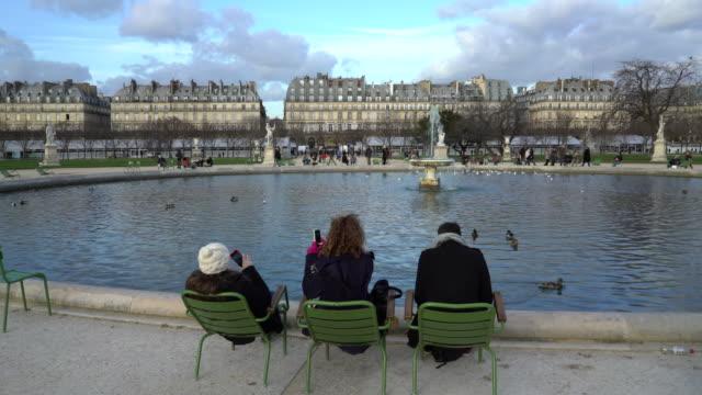 Jardin des Tuileries Paris in winter.