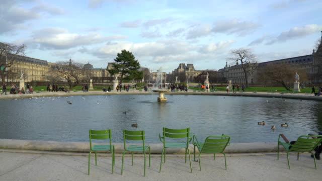 jardin des tuileries paris in winter. - 美術工芸品点の映像素材/bロール