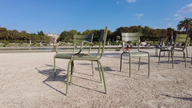 jardin du luxembourg à paris - 骨盤点の映像素材/bロール
