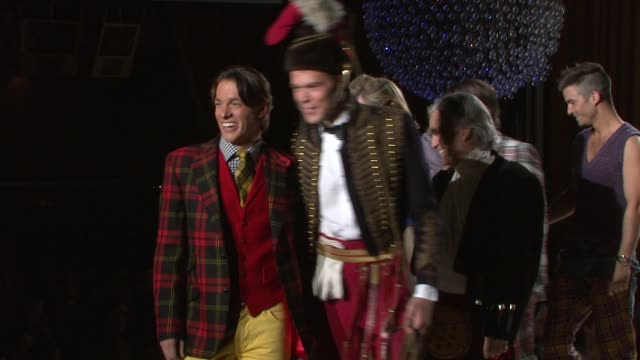 jared clark bobby bowden and models walk the runway at the 7th annual 'dressed to kilt' charity fashion show at new york ny - dressed to kilt stock videos & royalty-free footage