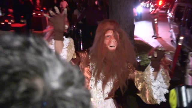 Jared Eng as The Victorian Ape Women at a Halloween Party in Casamigos Tequila in Beverly Hills in Celebrity Sightings in Los Angeles