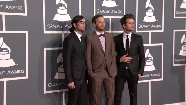 Jared Followill Nathan Followill Caleb Followill at 54th Annual GRAMMY Awards Arrivals on 2/12/12 in Los Angeles CA