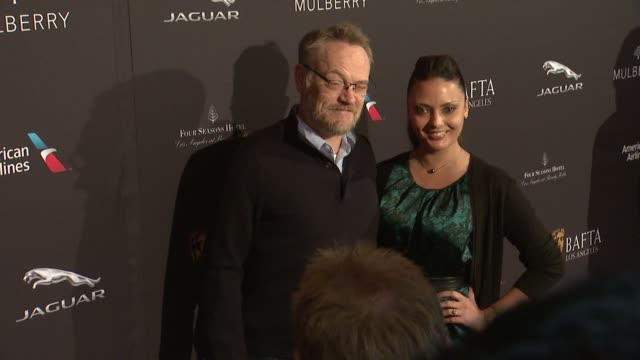 Jared Harris and Allegra Riggio at the 2015 BAFTA Los Angeles Tea Party at The Four Seasons Hotel on January 10 2015 in Beverly Hills California