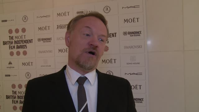 INTERVIEW Jared Harris on his father the awards Sherlock and Andrew Scott at The British Independent Film Awards nominations announcement on 3rd...