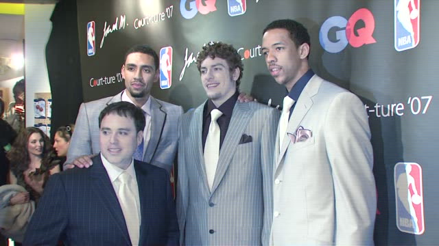 jared jeffries david lee channing fry and jared m at the nba courtture 2007 fashion show at nba store in new york new york on march 21 2007 - 2007 stock videos & royalty-free footage